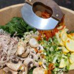 veggies in cutting bowl