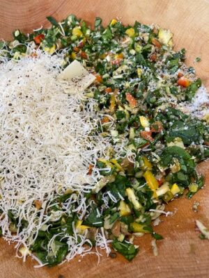 chopped veggie with parm